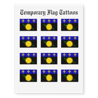 Guadaloupe Flag Temporary Tattoos