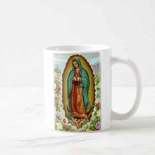 Guadalupe con la taza de los rosas