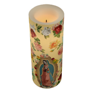 Guadalupe Flameless Candle