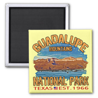 Guadalupe Mountains National Park 2 Inch Square Magnet