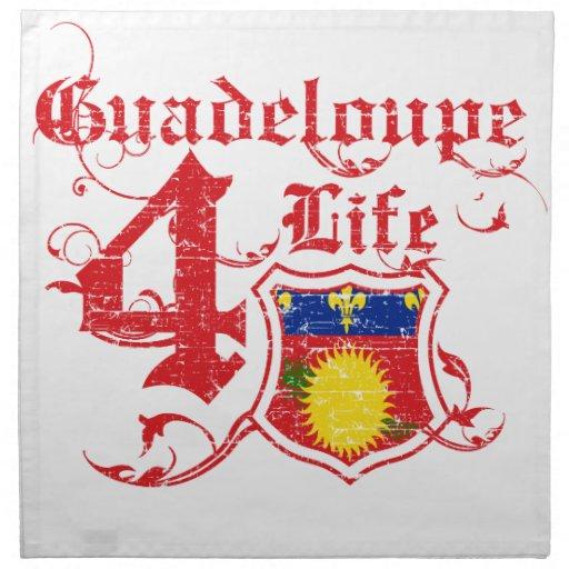 Guadalupe para la vida servilleta imprimida