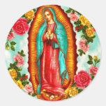 Guadalupe Pegatina Redonda