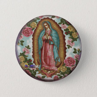 GUADALUPE VIRGEN CUSTOMIZABLE PRODUCTS PINBACK BUTTON