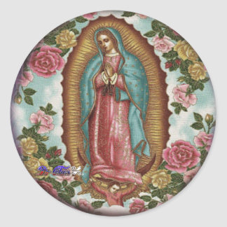 GUADALUPE VIRGEN CUSTOMIZABLE PRODUCTS ROUND STICKERS