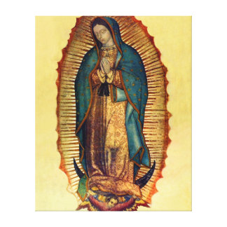 Guadalupe Virgin Mary Wrapped Canvas Tilma Print