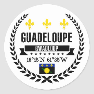 Guadeloupe Classic Round Sticker