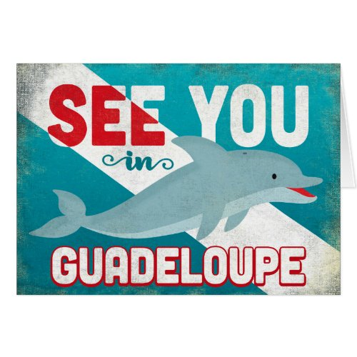 Guadeloupe Dolphin - Retro Vintage Travel