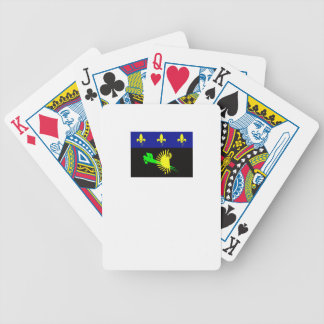 guadeloupe-flag- bicycle playing cards