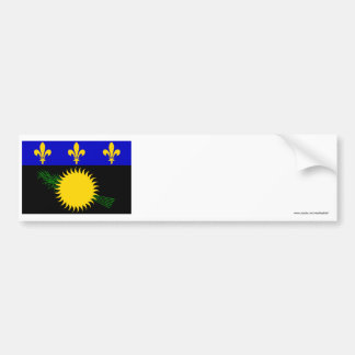 Guadeloupe flag bumper stickers