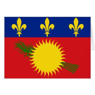 Guadeloupe Flag Card