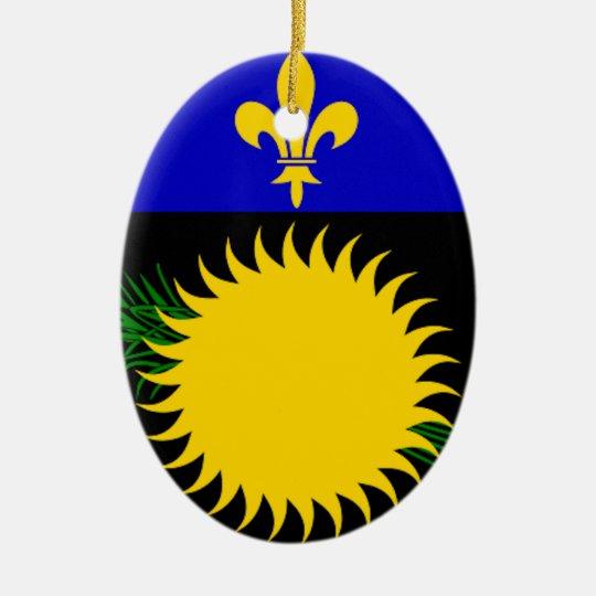 Guadeloupe Flag Ceramic Ornament