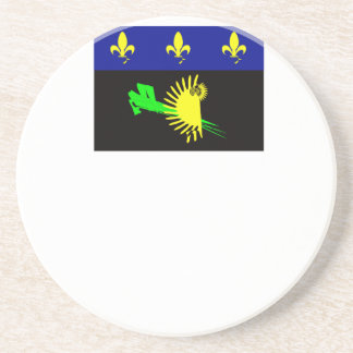 guadeloupe-flag- drink coaster