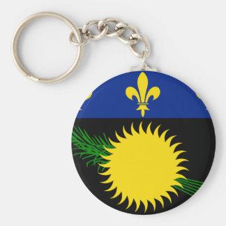 Guadeloupe Flag GP Keychain