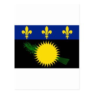 Guadeloupe Flag GP Postcard