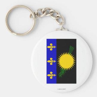 Guadeloupe flag keychain