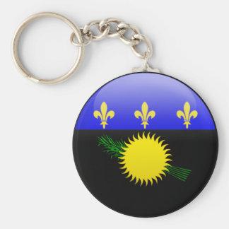 Guadeloupe Flag Key Chains