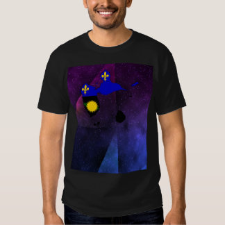 Guadeloupe Flag Map on abstract space background Tshirts