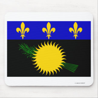 Guadeloupe flag mouse pad