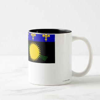 Guadeloupe flag coffee mugs