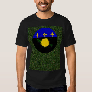 Guadeloupe Flag on Grass Shirts