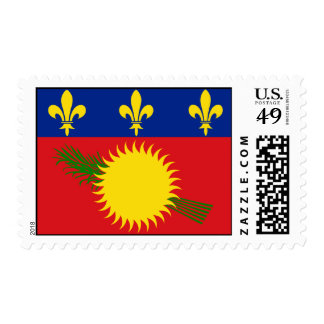 Guadeloupe Flag Postage Stamps