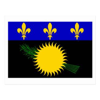 Guadeloupe flag postcard