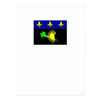 guadeloupe-flag- postcard