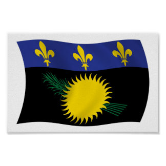 Guadeloupe Flag Poster Print