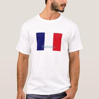 Guadeloupe flag souvenir tshirt
