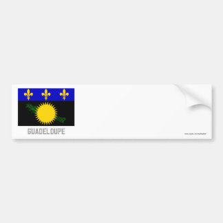 Guadeloupe flag with name bumper stickers