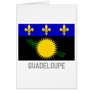 Guadeloupe flag with name card
