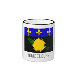 Guadeloupe flag with name mugs