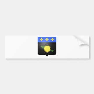 Guadeloupe (France) Coat of Arms Bumper Sticker