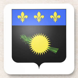 Guadeloupe (France) Coat of Arms Coaster
