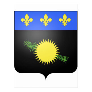 Guadeloupe (France) Coat of Arms Postcard