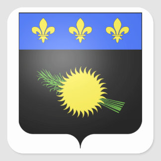 Guadeloupe (France) Coat of Arms Square Stickers