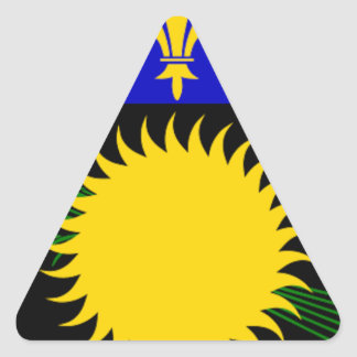 Guadeloupe (France) Flag Triangle Sticker