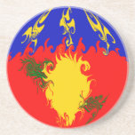 Guadeloupe Gnarly Flag Coasters