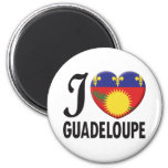 Guadeloupe Love Refrigerator Magnets