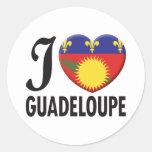 Guadeloupe Love Round Sticker