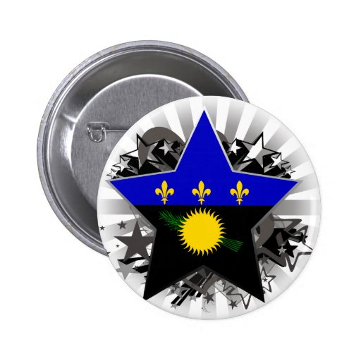 Guadeloupe Star 2 Inch Round Button