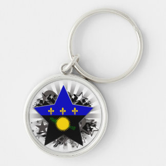 Guadeloupe Star Keychains