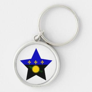 Guadeloupe Star Keychain