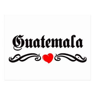 Guadeloupe Tattoo Style Postcard
