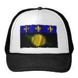 Guadeloupe waving flag hats