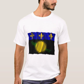 Guadeloupe waving flag T-Shirt