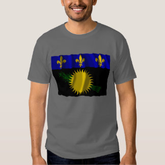 Guadeloupe waving flag t shirt