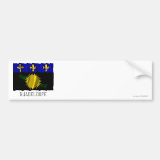 Guadeloupe waving flag with name bumper sticker