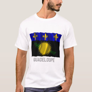 Guadeloupe waving flag with name T-Shirt