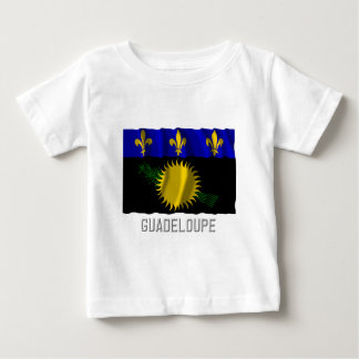 Guadeloupe waving flag with name t shirt